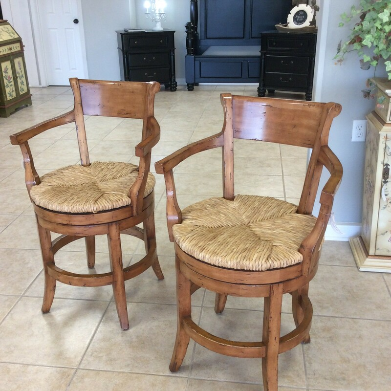 Pr Swivel Counter Chairs.