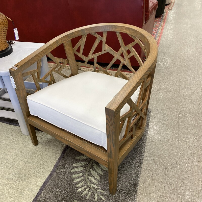 Crate & Barrel Wood Chair.