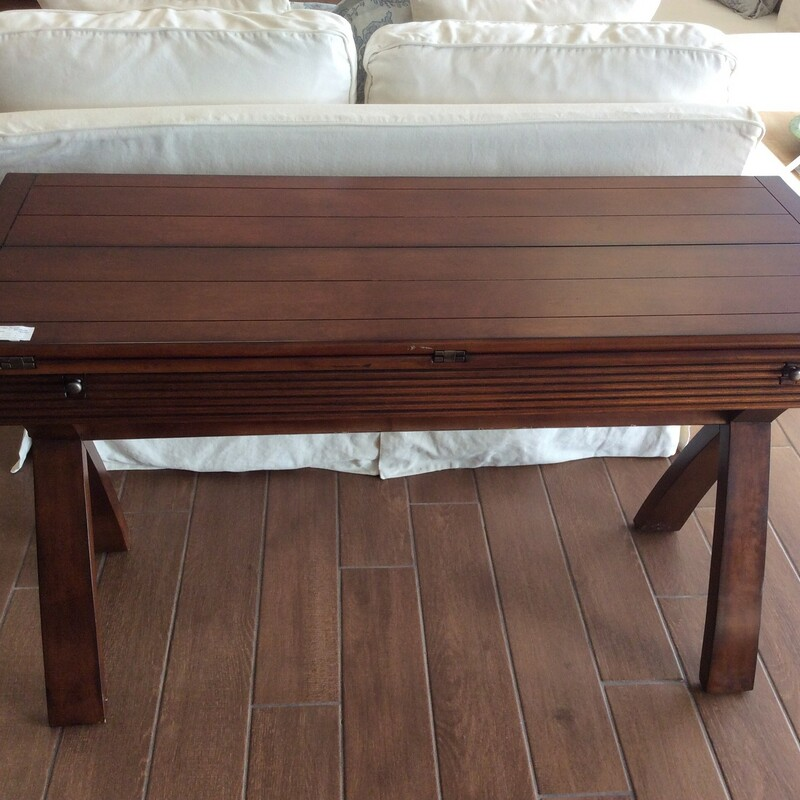 Foldout Sofa Table.