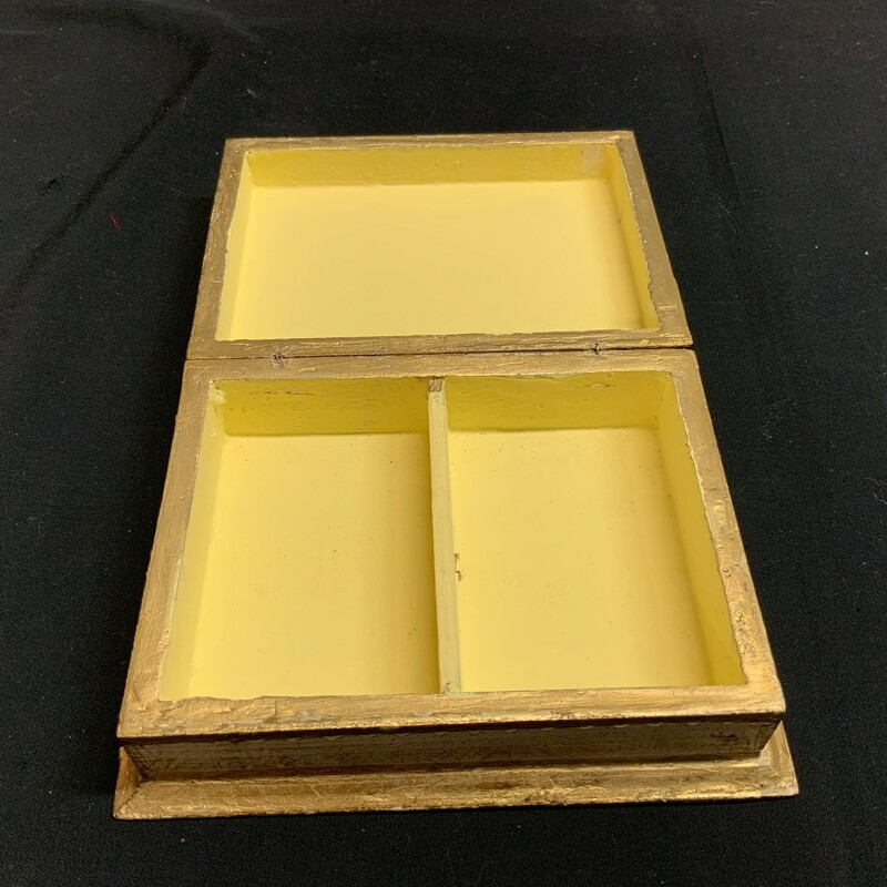Italian gold and white Card box. Great condition