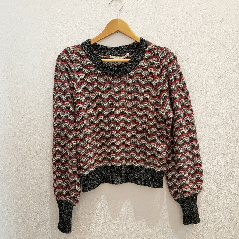 Veronica Beard<br /> Wine and Black Sweater<br /> NWT<br /> Original Retail $495<br /> Size Medium