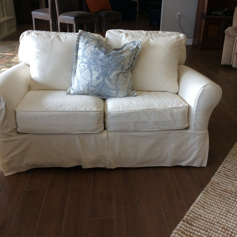 Slipcovered Loveseat.