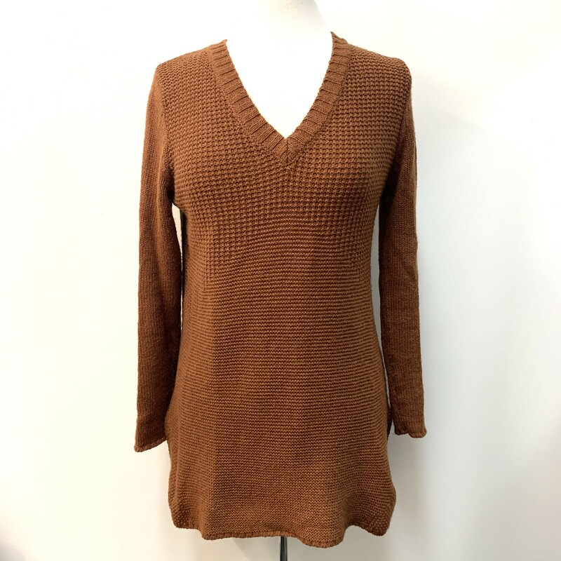 PrAna Knit Tunic<br /> 53% Organic Cotton, 26% Acrylic,<br /> 13% Polyester, 8% Wool<br /> Sienna<br /> Size: Small<br /> Machine Wash Cold