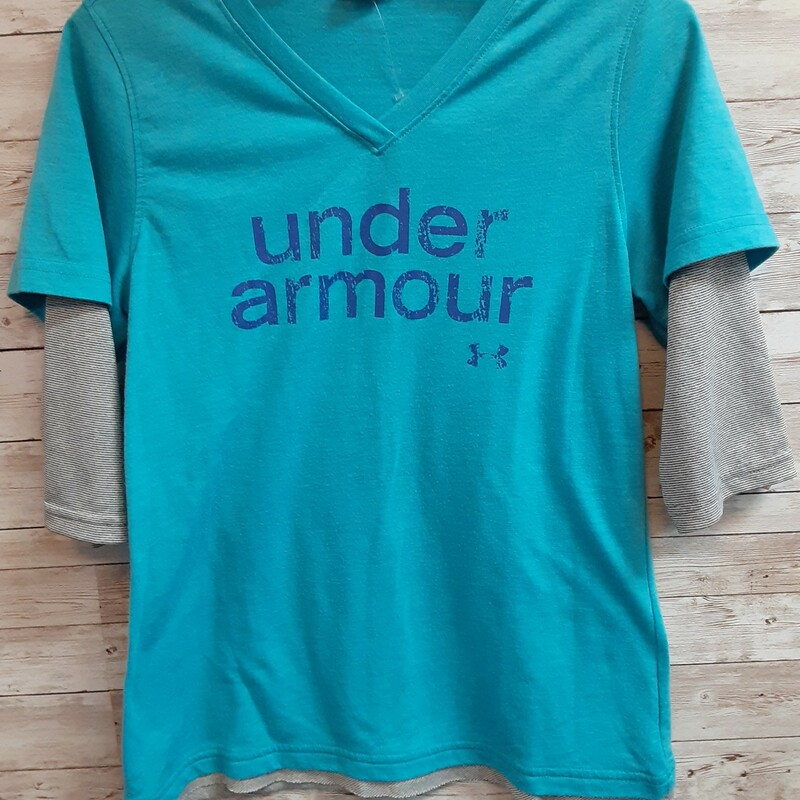 Under Armour Top, blue, Size: 10 Girls