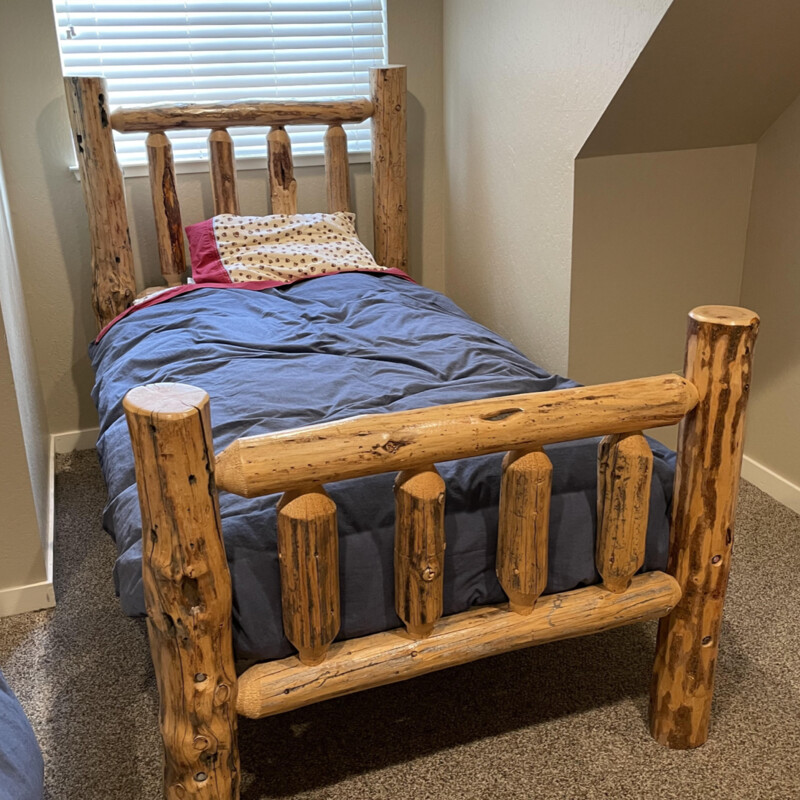 Twin Log Bed.