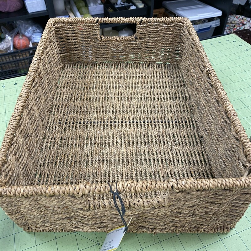 Woven Twine Tote Basket.