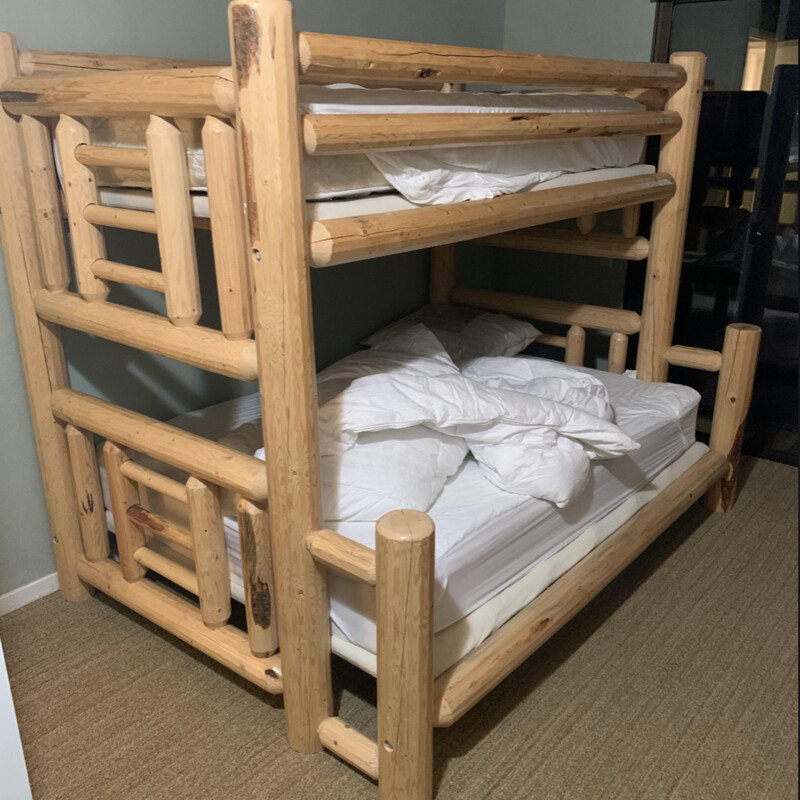 Twin/Full Lodge Pole Bunk.