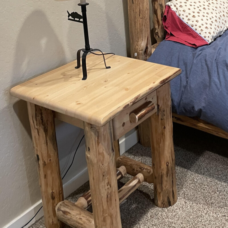 Log Nightstands.