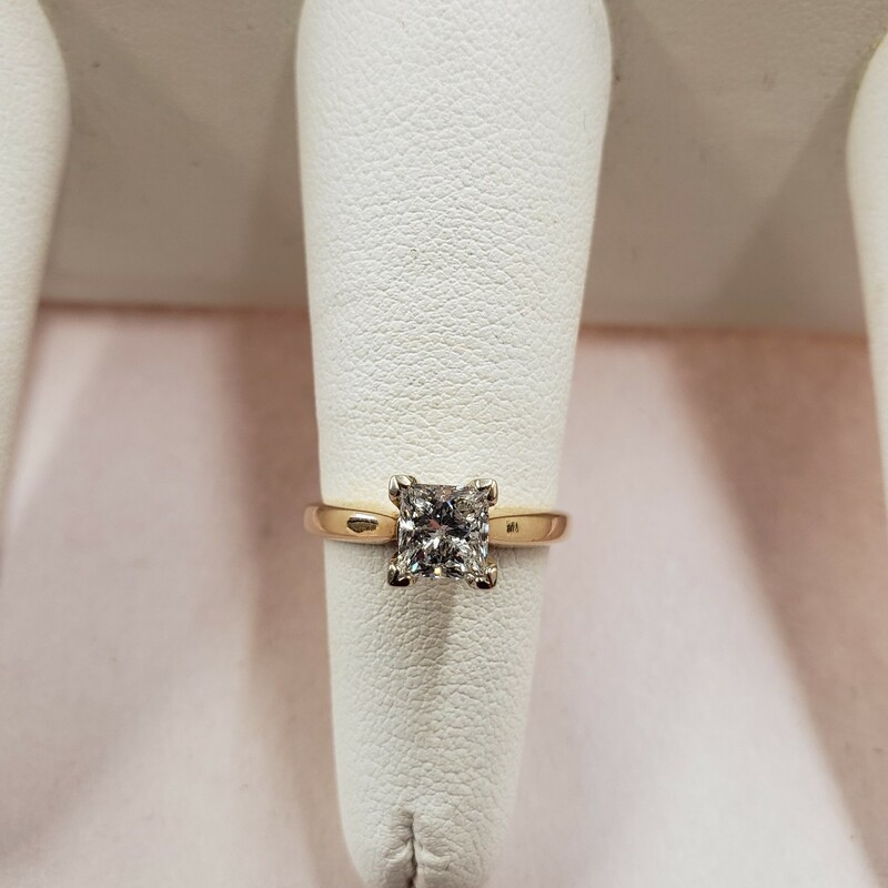 1.01ct H/SI Princess Cut Diamond Ring<br /> Size 7.5<br /> <br /> Can be sized up or down for an additional fee<br /> Pictures do not do the jewelry justice.<br /> Photo ID required for pick up of online purchases. We will not ship jewelry purchases.<br /> <br /> <br /> All jewelry has been checked by a Certified Gemological Institute of America (GIA) Accredited Jewelry Professional (AJP) and/or appraised by a certified local jeweler.
