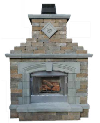 Olde English Wall Outdoor Fireplace Kit