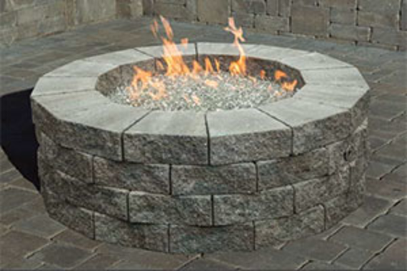 Pyzique Round Gas Fire Pit Kit - Pyzique Round Gas Fire Pit Kit Cromwell Concrete
