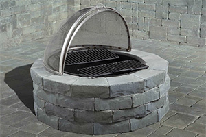 Ledgestone Round Wood Barbecue Fire Pit
