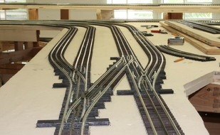 If you want a more realistic and scale looking layout for your trains, try GARGRAVES TRACKAGE.