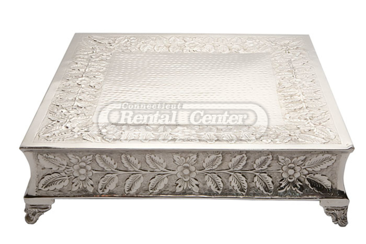 wedding cake stand rental rent 22 quot silver square cake stands from ct rental center 25642