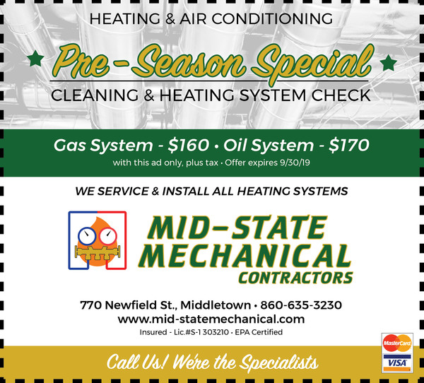 Pre-Season Special Cleaning & Heating System Check