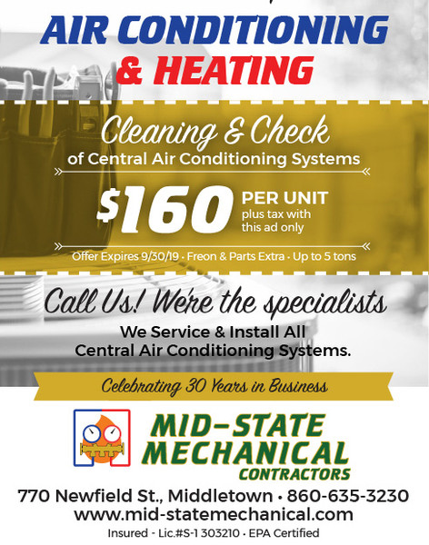 Mid-Season Cleaning & Check of Air Conditioning Systems