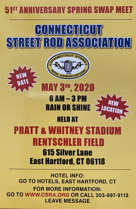 See you at the CSRA Swap Meet - May 3rd, 2020