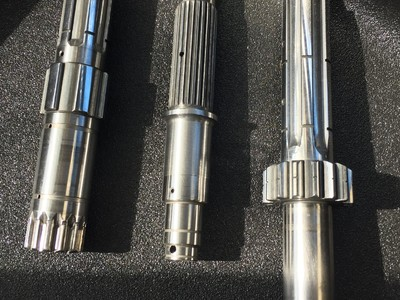 Various Motorcycle Shafts After Processing. NEGP specializes in Motorcycle Transmission Polishing.