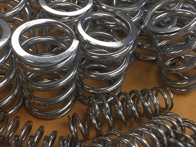 Valve springs: Reduce fracture lines which will greatly increase a spring's life span. Sheds oil much quicker too.
