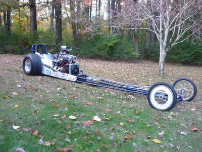 John G. from Ct. Supercharged 350 BUICK powered dragster. Running 9.00 @147 mph. Equipped with a custom camshaft super finished by NEGP.