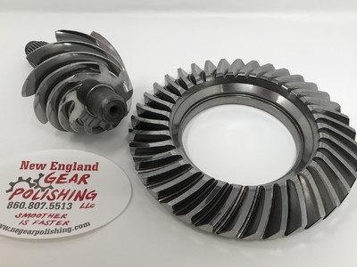 Ring & Pinion - After NEGP has performed the REM Process. The Ra is now between 6Ra and 4 Ra. Gears will run quieter, run cooler, and produce less drag.
