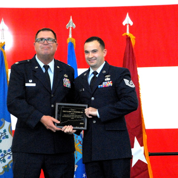 COL Stephen Gwinn, CTANG Wing Commander, Presents Awards to Outstanding Airmen and Officers, March 3, 2019