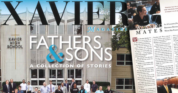 Xavier High School Magazine Fathers & Sons Issue Features Attorney John Buckley and Son Brendan Buckley