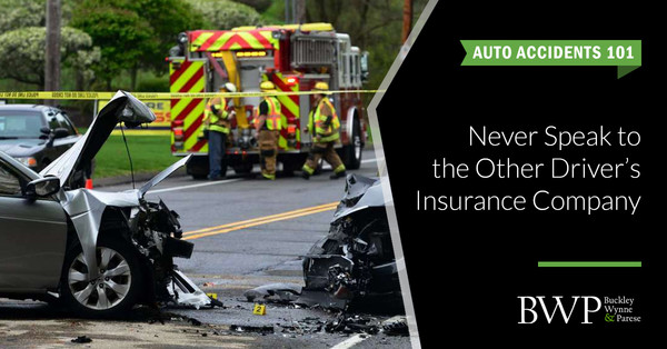 Auto Accidents 101: Never Speak to the Other Driver's Insurance Company