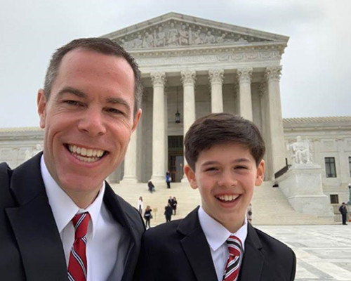 John and Sal after John was admitted to practice in the US Supreme Court.