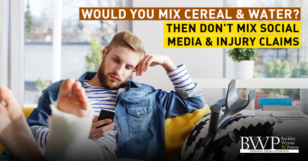 Would You Mix Cereal & Water? Then Don't Mix Social Media & Injury Claims