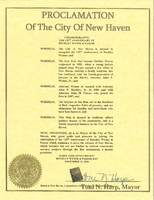 Proclomation of the City of New Haven BWP Day