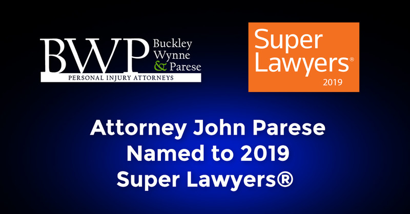 John Parese Ranked as Top Rated Personal Injury Attorney in New Haven By Super Lawyers 2019