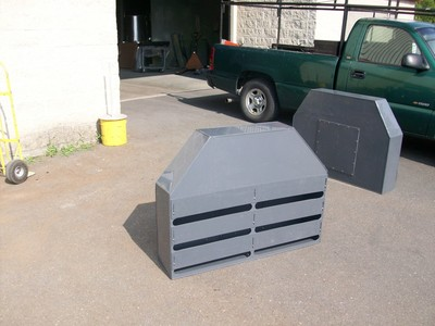 Custom Fabricated PVC Slotted Exhaust Hoods Projects.