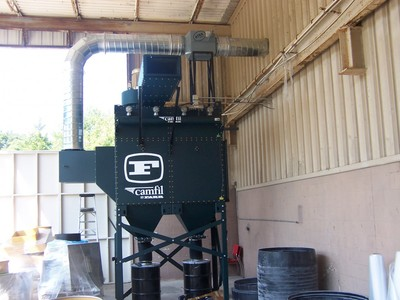 Pulse Dust Collector with Silencer and Dual Hopper Projects.
