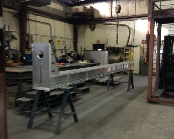 "8"" Aluminum I-Beam with 1"" Plates Welded Two Sides - 20' Long."