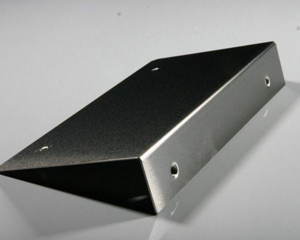 Stainless Steel Bracket with Dimpled Holes.